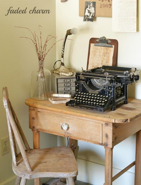 Antique typewriter - part of this cottage tour