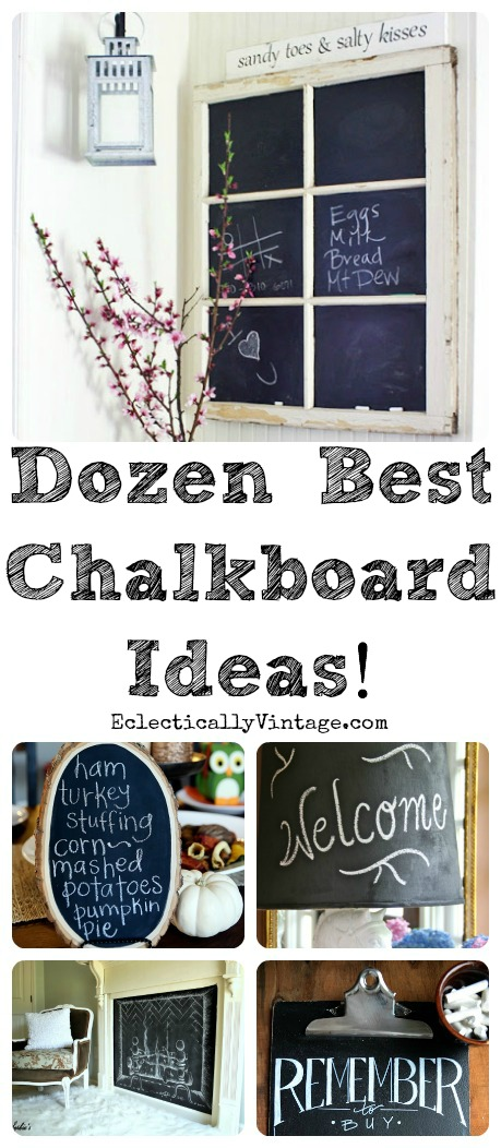 12 Best #Chalkboard Ideas plus tips and tricks for creating your own unique chalkboard art!  kellyelko.com