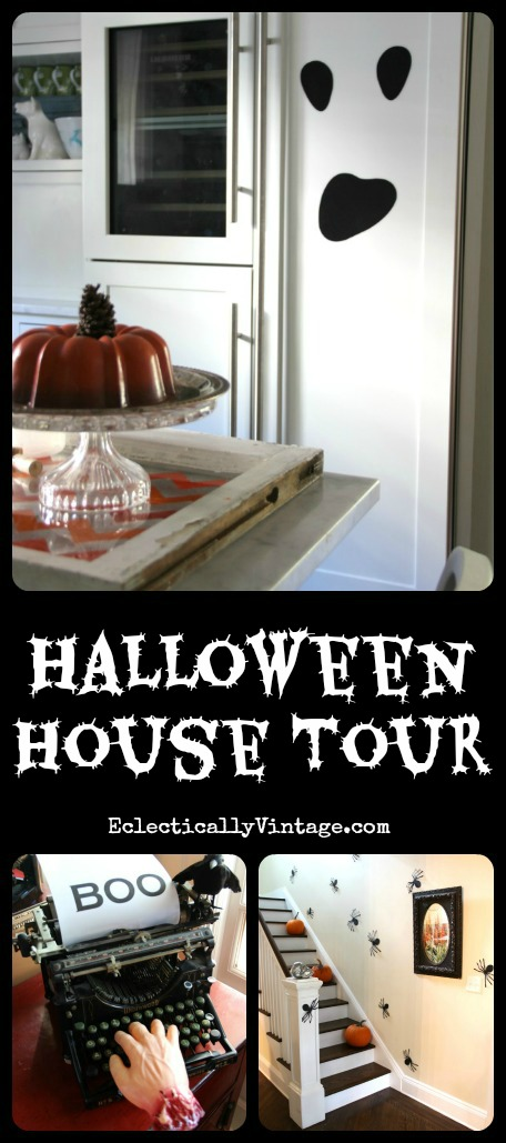 Halloween House Tour - lots of creative decorating ideas kellyelko.com