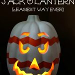 How to Make a Chevron Jack O'Lantern … the Easiest Way Ever!