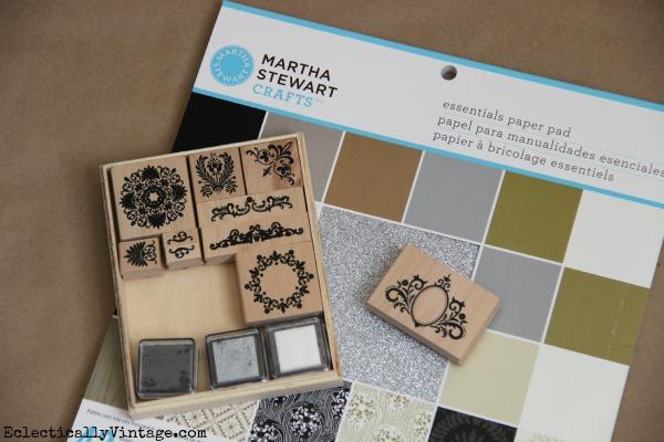 Martha Stewart Stamps & Paper Pad kellyelko.com