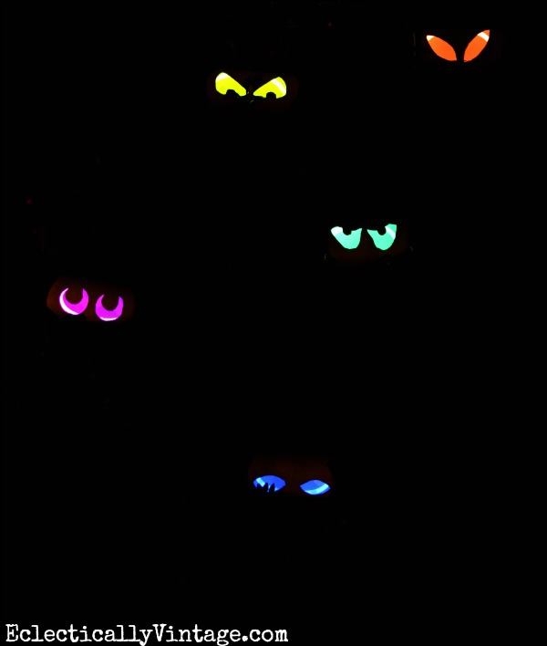 How to Make Glow Stick Eyes at Eclectically Vintage