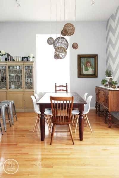 Eclectic house tour stylish rental decorating ideas for Dining room 10 x 11