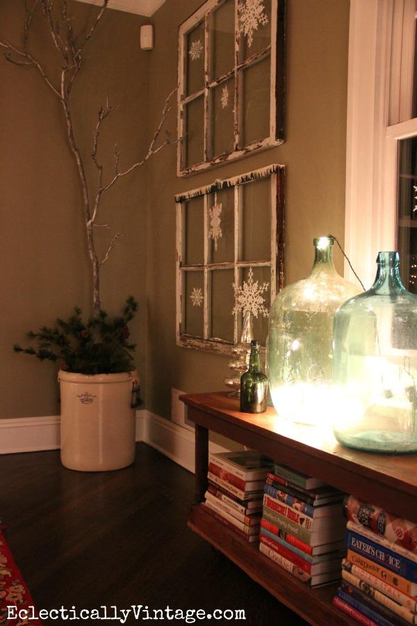 Demijohn Christmas Lights kellyelko.com