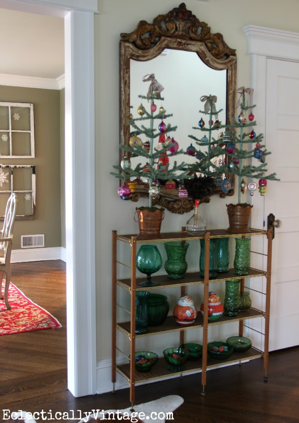 Christmas feather trees - perfect for displaying treasured ornaments kellyelko.com
