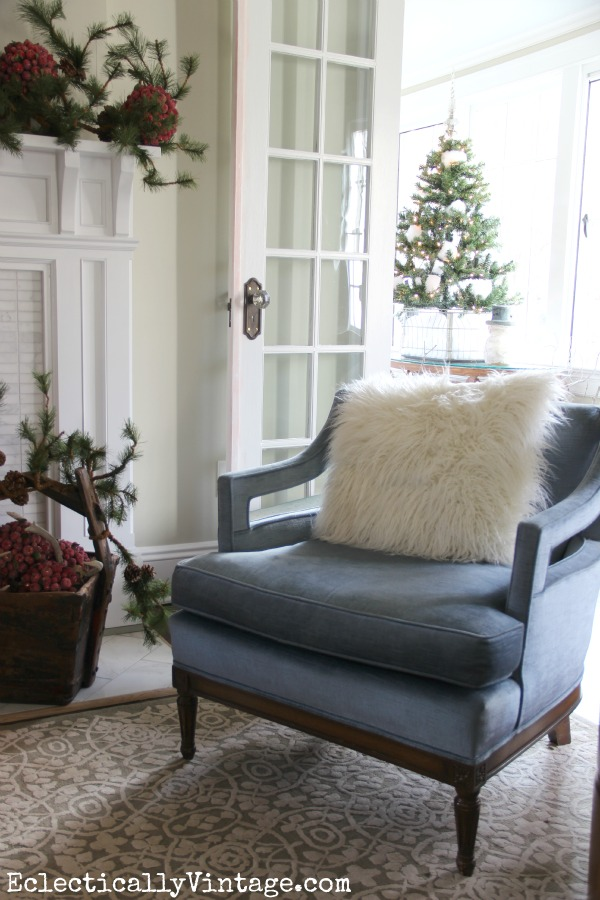 Christmas Living Room - part of this beautiful house tour kellyelko.com