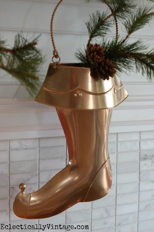 Create your own custom colors for your holiday home - love the copper stocking kellyelko.com