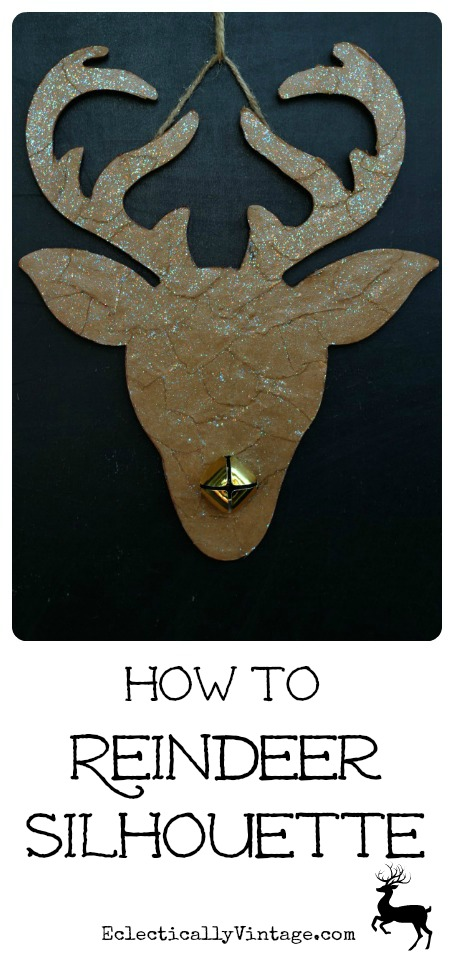 How to Make a Reindeer Silhouette - this is so cute!  kellyelko.com