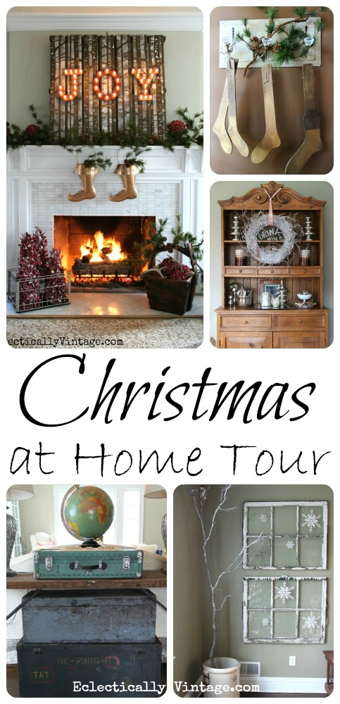 Christmas House Tour - WOW - so many unique ideas! kellyelko.com