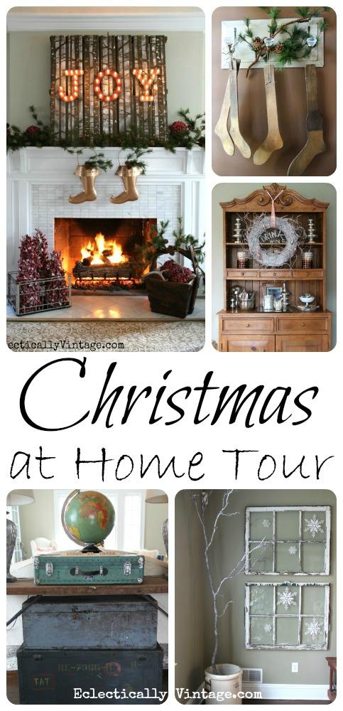 Christmas Home Tour - tons of creative decorating ideas kellyelko.com