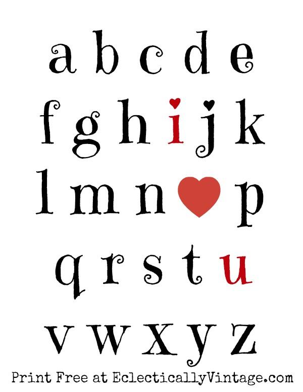 Free I Love You Valentine Printable kellyelko.com #valentine #valentinesday #valentinesparty #valentinesprintable #freeprintable