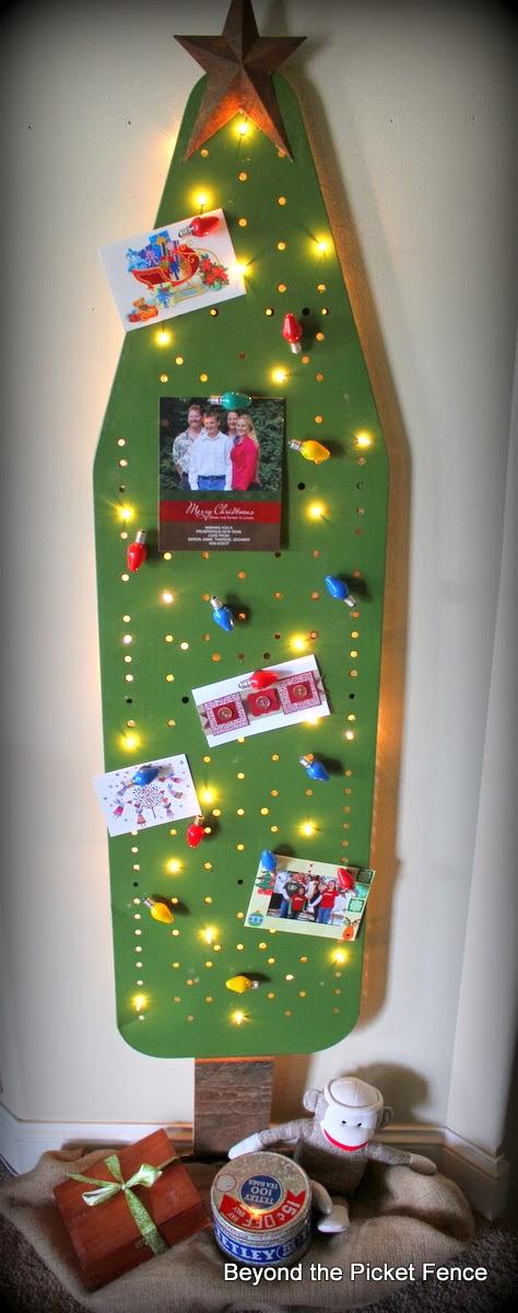 Ironing board Christmas tree