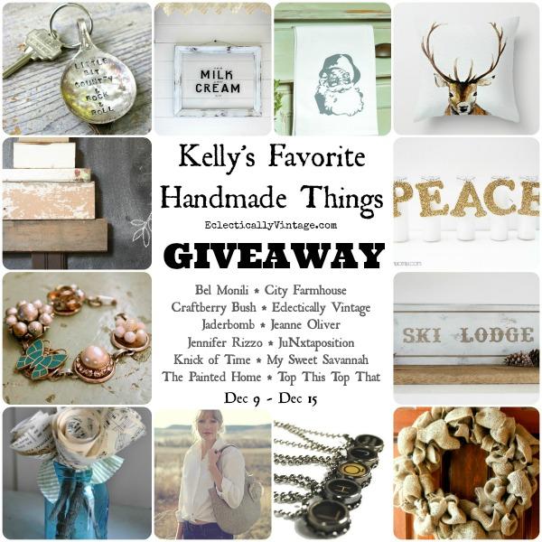 Kelly's Favorite Handmade Things Giveaway!