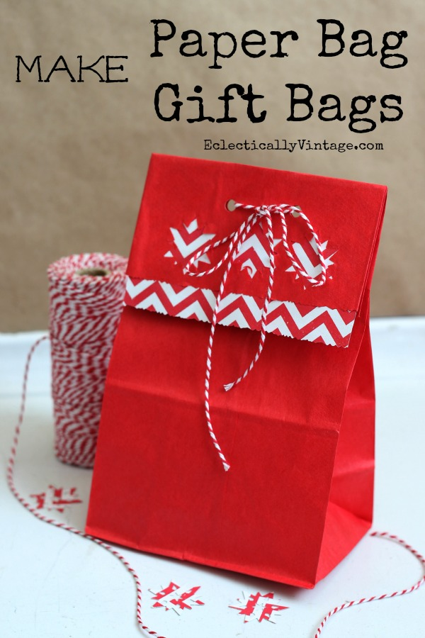 How to make gift bags out of brown paper