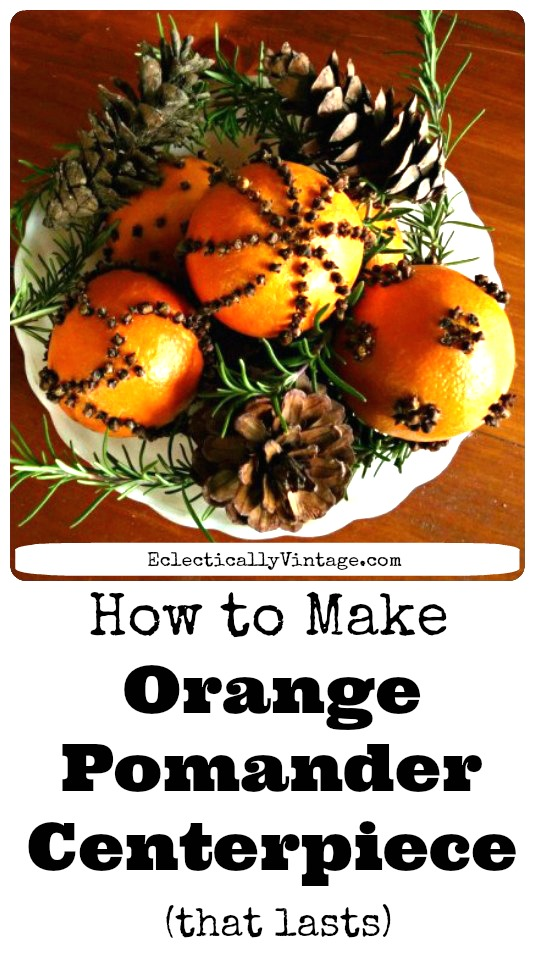 How to make pomanders - that last! They smell amazing and they are the perfect winter crafts for kids and adults! kellyelko.com #pomanders #christmascrafts #diychristmas #vintagechristmas #oldfashionedchristmas #orangecrafts #naturaldecorating #kellyelko