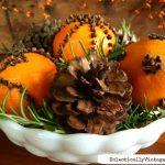 Make an Orange Pomander Centerpiece (that lasts)!