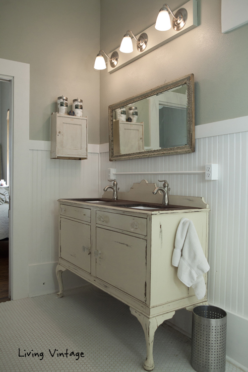 The Custom Bathroom Vanity And Vintage Medicine Cabinet Living Vintage