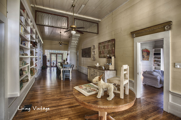 Living Vintage home tour - love how they reuse old architectural salvage