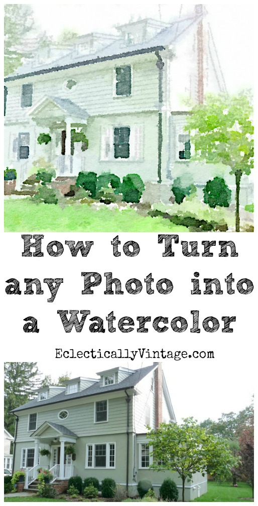 How to Turn any Photo into a Watercolor kellyelko.com