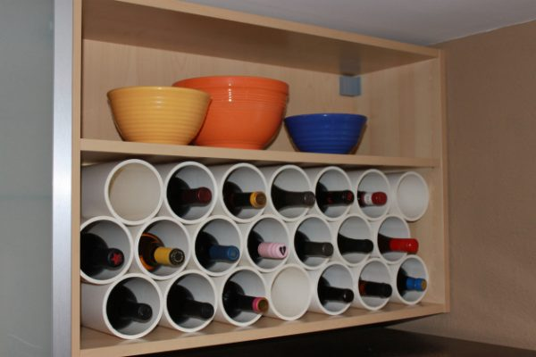 Make your own wine storage rack! kellyelko.com