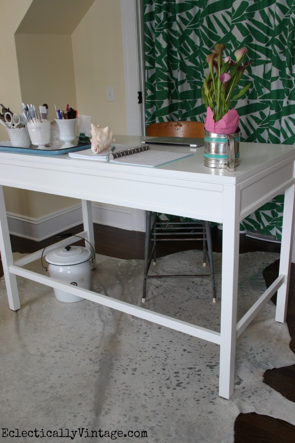 Love the counter height of this Martha Stewart craft furniture from Home Decorators Collection! kellyelko.com