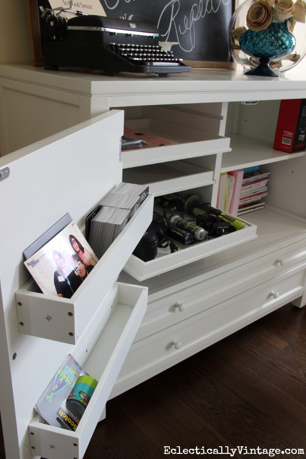 Martha Stewart Craft Furniture - so much storage! kellyelko.com