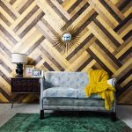 Love this wood chevron wall ecelcticallyvintage.com