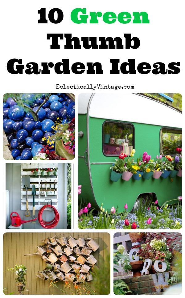 10 Unique Garden Ideas to Jazz Up Your Yard! kellyelko.com