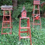 A trio of ladder birdhouses kellyelko.com