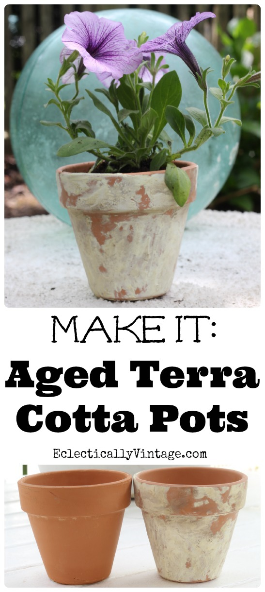 How to Age Terra Cotta Pots with this simple method! kellyelko.com