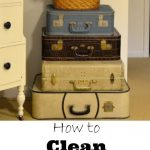 How to clean vintage luggage kellyelko.com