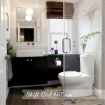 Shift Ctrl Art Home Tour - love this stunning bathroom! kellyelko.com