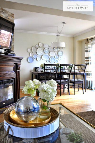 Gorgeous white plate wall kellyelko.com