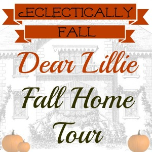 Dear Lillie Eclectically Fall Home Tour - one of 15 fabulous fall home tours kellyelko.com