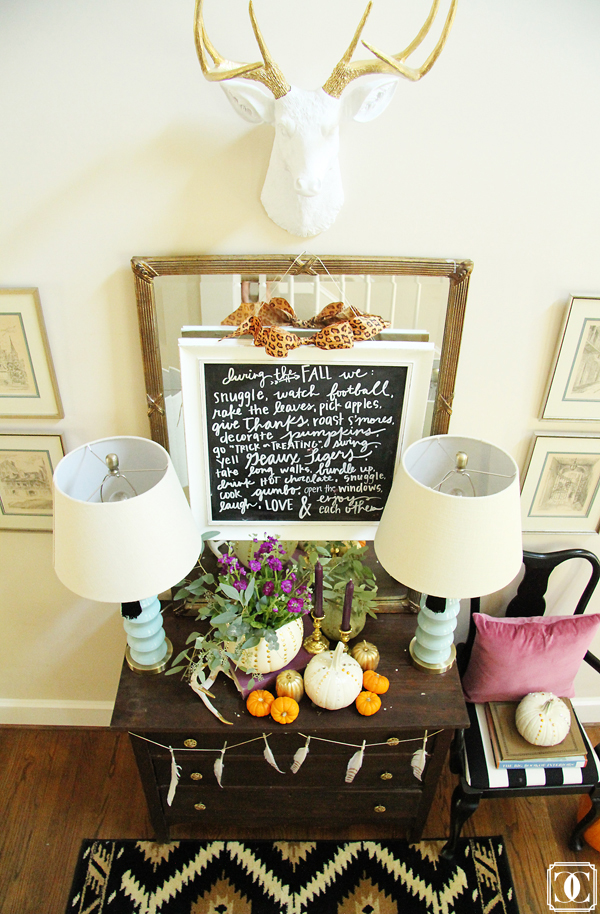 Eclectic entryway - love the mix of old and new and the deer head! kellyelko.com
