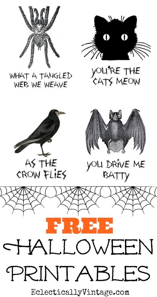 Free Halloween Printables kellyelko.com