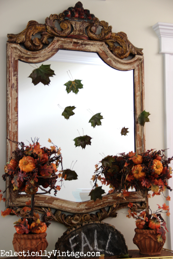 Falling leaves for fall decor kellyelko.com #EclecticallyFall