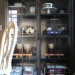 I love this industrial metal cabinet - perfect for showing off collections kellyelko.com