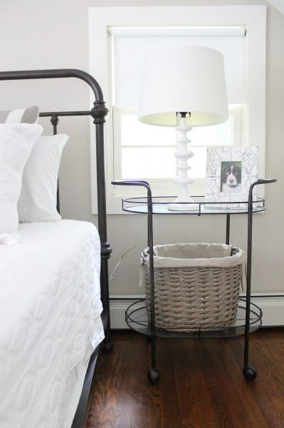 Inviting guest bedroom with iron bed kellyelko.com
