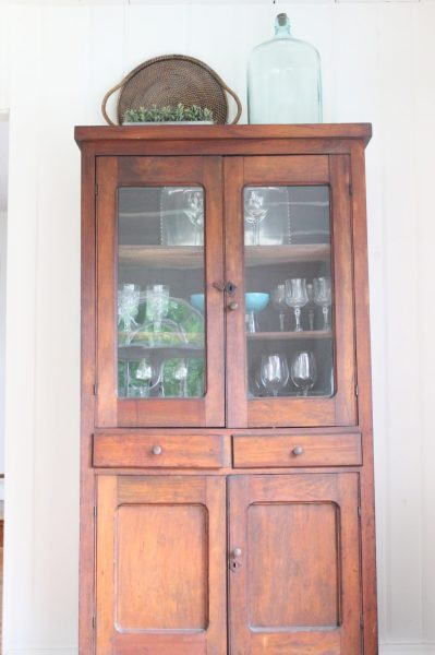 This hutch is perfect for displaying glassware collections kellyelko.com