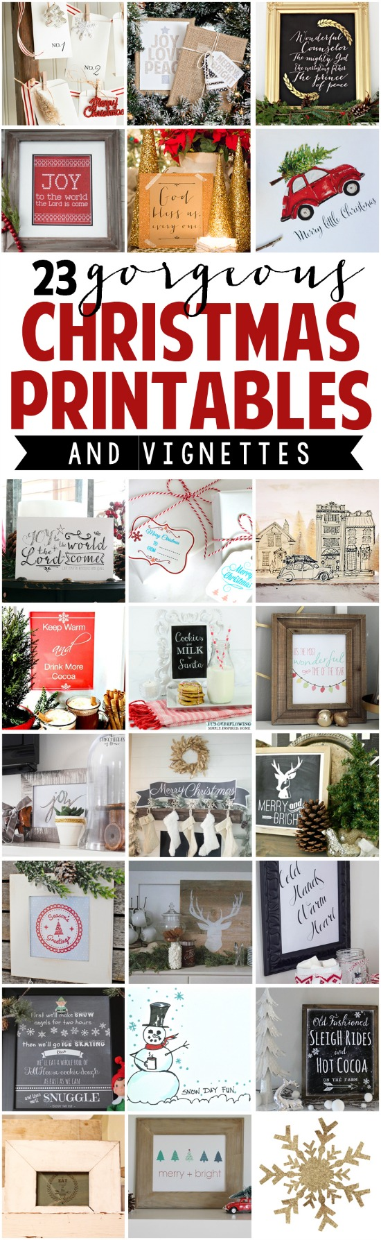 23 Gorgeous Christmas Printables with Display Ideas kellyelko.com