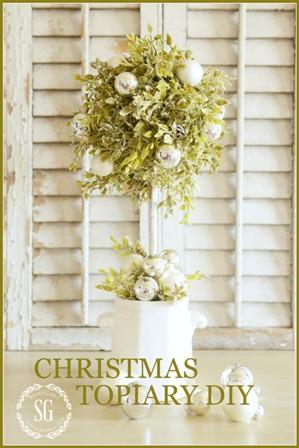 CHRISTMAS TOPIARY DIY stonegableblog.com
