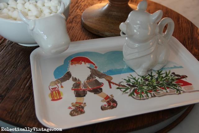 Christmas gnome plate kellyelko.com
