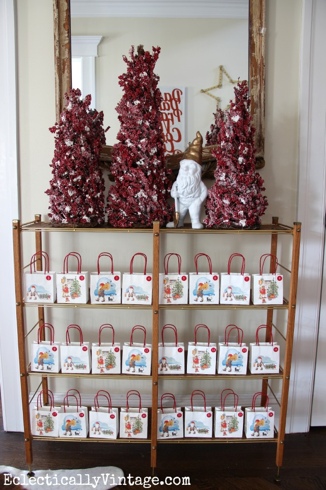 Cute little bag advent calendar  kellyelko.com