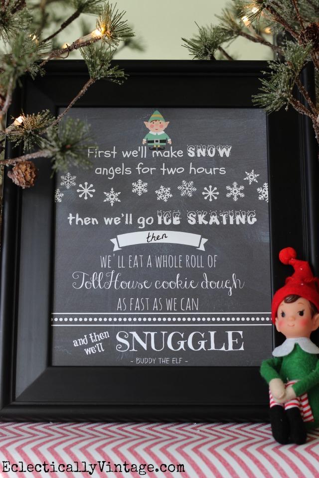 Free Christmas Elf Movie Printables kellyelko.com