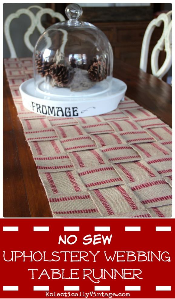 How to make a no sew jute table runner kellyelko.com