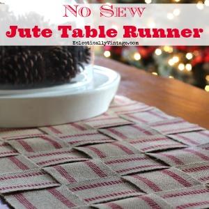 Make a now sew burlap webbing table runner kellyelko.com