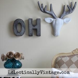 Make a Fun Oh Deer Sign! kellyelko.com