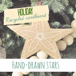 Make Recycled cardboard stars