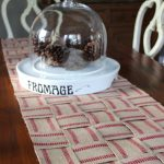 Countdown to Christmas – No Sew Upholstery Webbing Table Runner